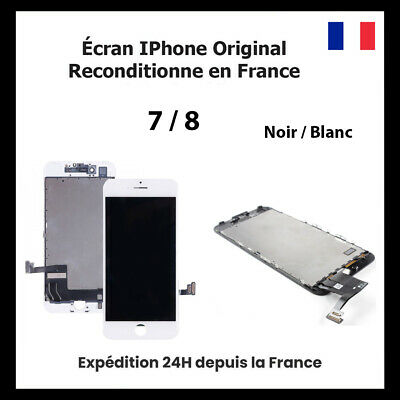 Ecran Pour Iphone 7 / 8 / Lcd Vitre Tactile Noir / Blanc Original Reconditionne