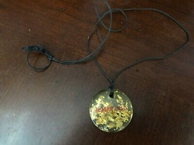 Vintage Gold Flakes in Lucite Alaska Souvenir Necklace