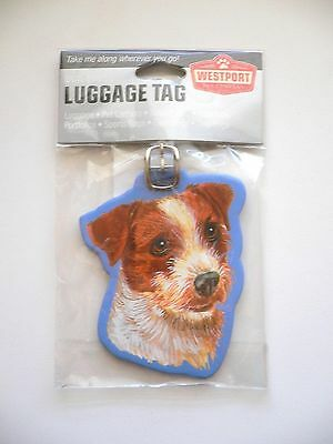 ~New~JACK RUSSELL TERRIER Luggage Tag Pet Dog Carrier Back Pack ID Name Tag
