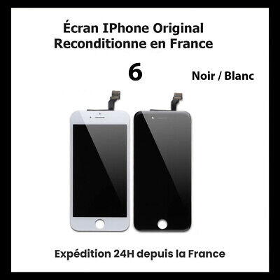 Ecran Pour Iphone 6  Lcd Vitre Tactile Noir / Blanc (Original Reconditionne)