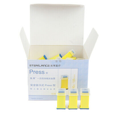 Diabetic Glucose Blood Test Device Pressure Activated Safety Lancets 26G