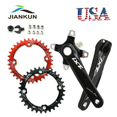 104//64 BCD Crankset 170mm Crank MTB 30-42T Narrow Wide Aluminum Single Chainring