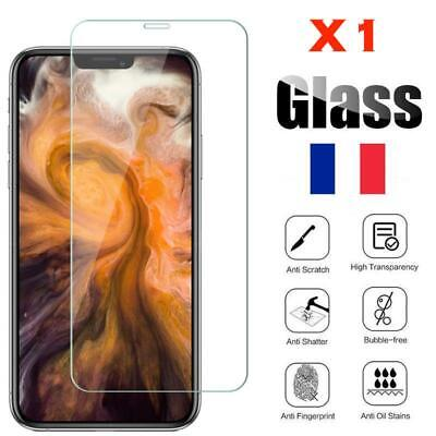 vitre de protection d'écran Film en verre trempe iPhone X/XS/XR/5C/6S/7/8/8 Plus