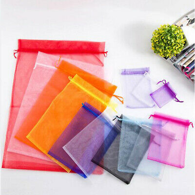 7 Sizes/&26 Colors ORGANZA GIFT BAGS Party Wedding Candy Jewelry Pouches BW