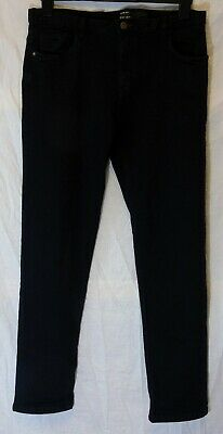 Boys Very Plain Black Denim Classic Straight Leg Slim Fit Jeans Age 16 Years