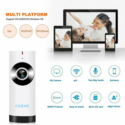 Wireless HD 720P Baby Pet Monitor Network Security IP Camera WiFi IR Webcam aG