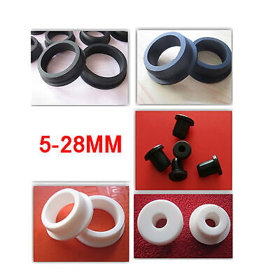 5mm to 28mm Silicone Rubber Grommet Plug Bungs Cable Wiring Protect Bushes