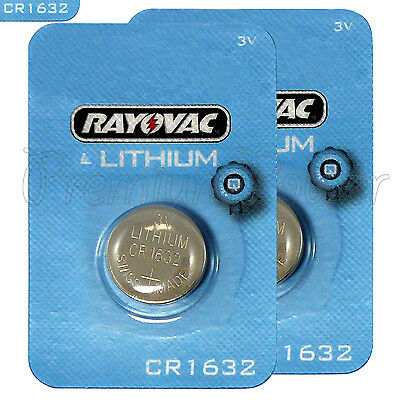 2 X Rayovac CR1632 Piles Lithium 3V Boutons Cellule BR1632 KRC1632 DL1632