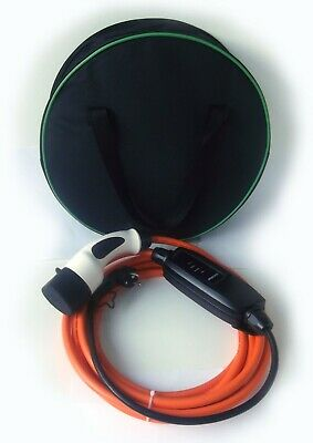 Electric Car Charger Type 2- EU/Schuko Plug, 5m Cable +Storage Case.