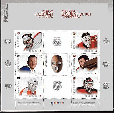 2015 Canada SC# 2866 NHL Hockey Great Canadian Goalies S.S. Lot # 175  M-NH