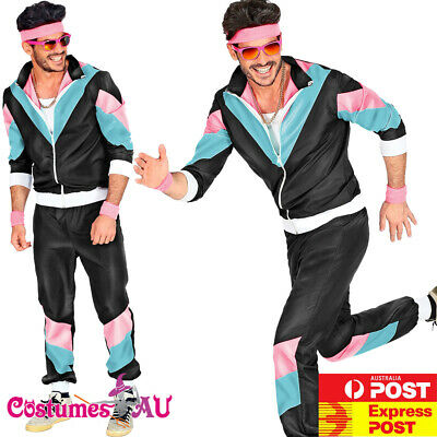 CL404 Mens 80/'s Height Fashion Scouser Tracksuit Shell Suit Costume Fancy Dress