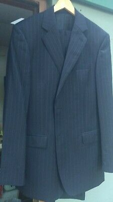 Austin Reed Wool Pinstripe Suit 42l 36l 14 99 Picclick Uk