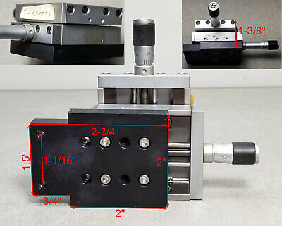X&Y Newport Klinger Micro-Controle Micrometer Linear Translation Stage Tables