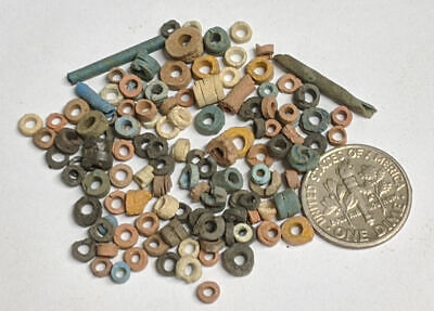 More than a Hundred 2500 Year old Ancient Egyptian Faience Mummy Beads (#M1125)