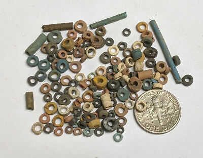 More than a Hundred 2500 Year old Ancient Egyptian Faience Mummy Beads (#M1130)