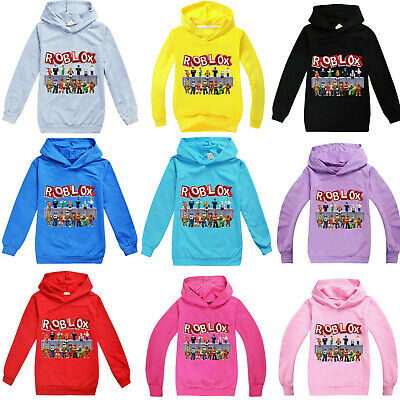 New Roblox Hoodies Kids Boys Girls Hooded Sweatshirt Autumn Jumper Tops Age 3-14