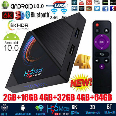 H96 MAX H616 Android 10.0 Smart TV Box WiFi BT Quad Core 16/64GB Media Player