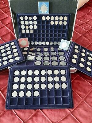 Coin Collection Rare & Circulated in Case, 50p £1 £2 10p Old English & Foreign