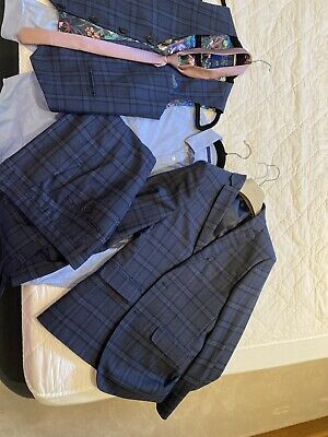 Next Boys 5 Piece Check Suit Age 11 Years