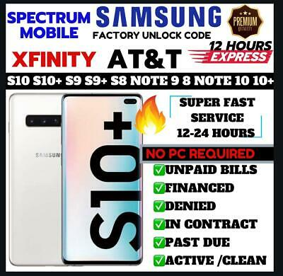 FACTORY UNLOCK CODE SERVICE AT&T ATT for SAMSUNG GALAXY S8 S7 S6 S9 NOTE 8 9 10