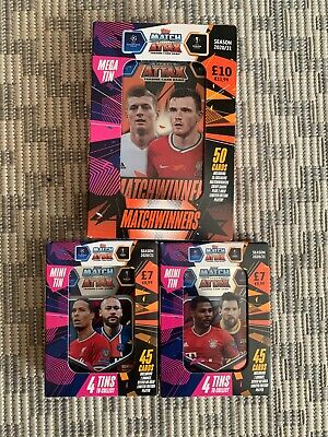3 x BRAND NEW Match Attax TOPPS Season 20/21 Mega Mini Tins