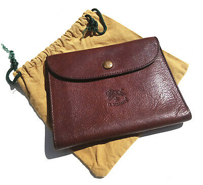 Il Bisonte Leather Wallet Brown Cow Hide incl bag  A20