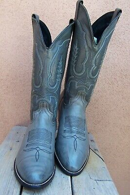 ABILENE BOOTS Mens Cowboy Western Boots Burnished Gray Cowhide Riding Size 10D