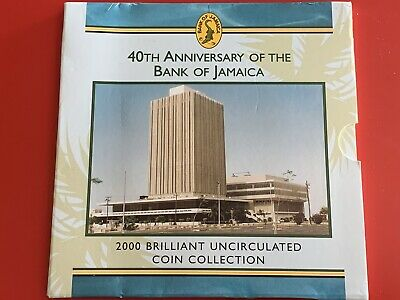 2000 Royal Mint 40th Anniversary Of Bank Of Jamaica Brilliant Unc 7 Coin Set