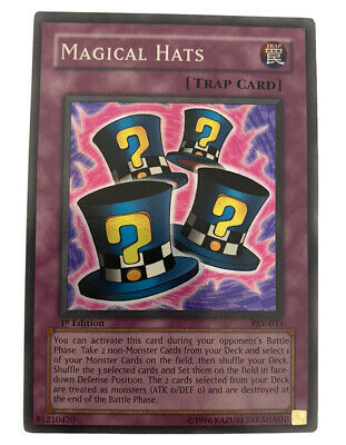 Near Mint Magical Hats Common YGLD-ENB34 Unlimited Edition x3
