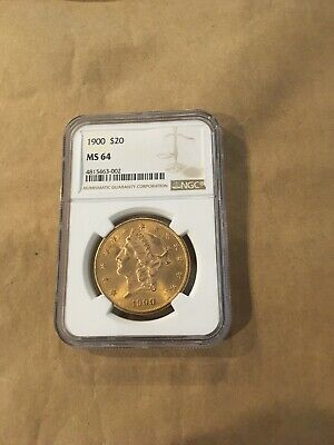 1900 US Gold $20 Liberty Head Double Eagle - NGC MS64