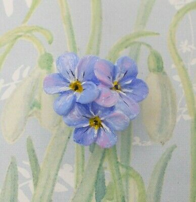 AMSITA London British Forget Me Not earrings In Blue from Botanical collection