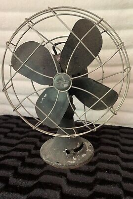"""Vtg Emerson Electric  3 Speed Fan 12"""" Oscillating 79646-AT WORKS"""