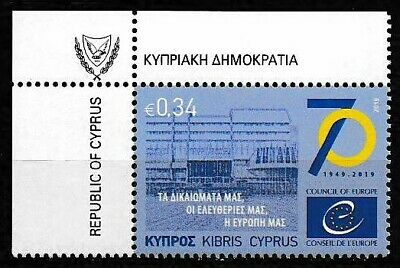 Cyprus 2019 70th Ann Council of Europe SC# 1317 MNH  Mint/Never Hinged