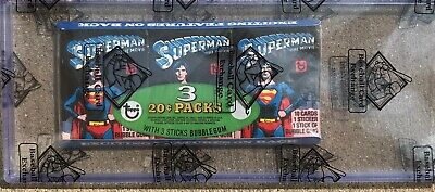 1980 Topps Superman Wax Tray Pack  BBCE Sealed
