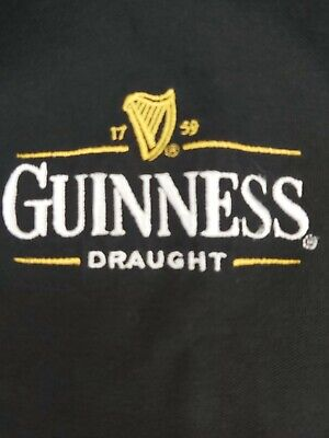 Vintage GUINNESS BEER PROMO T SHIRT SIZE L Polo Shirt