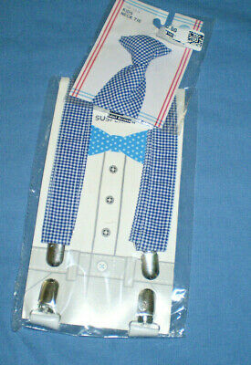 Kids Suspenders & TIE  Ages 3+  Plaid  Target Adorable New