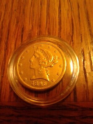 1886 S 5 dollar GOLD US $5 LIBERTY HEAD HALF EAGLE COIN Five Dollar