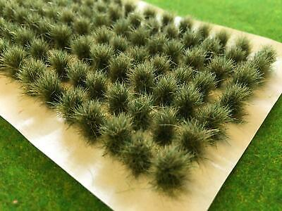 Model Railway Scenery Wargames Bushes Spring 10-12mm Tall Wild Grass Tufts