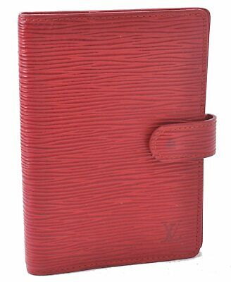 Authentic Louis Vuitton Epi Agenda PM Day Planner Cover Red LV A5315