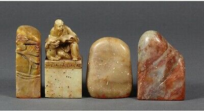 Lot of 4, Chinese Soapstone Seals