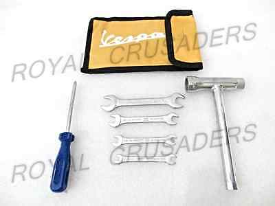 BRAND NEW VESPA COMPLETE TOOL KIT SET IN RED COLOUR POUCH @pummy