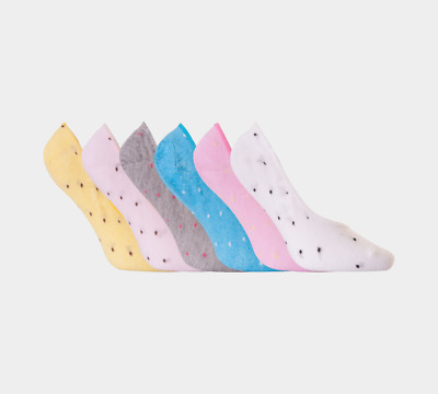 Ex Marks and Spencer 4 paires coton riche Trainer Liner Chaussettes Taille 3-8