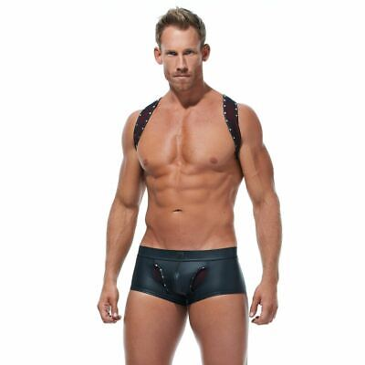 Gregg Homme Jock Crave Jockstrap Faux Leather Look Black 152633 58