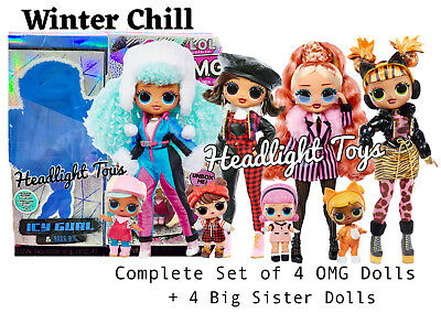 LOL Surprise OMG Winter Chill Big Wig Fashion Doll replacement Earrings OOAK