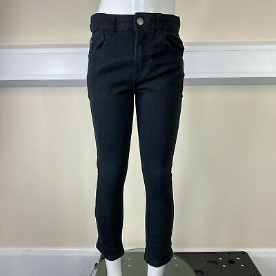 George Boys Black Denim Skinny Leg Jeans Trousers Pants UK Age 7-8 Years