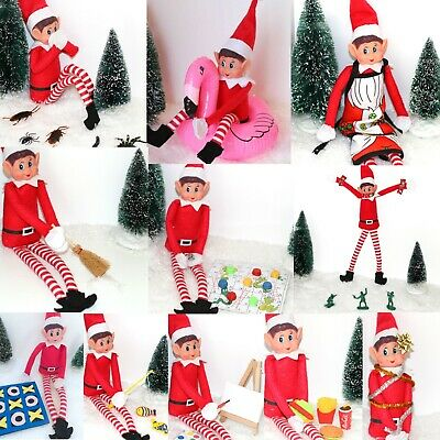Christmas Advent Elf Ideas Funny Games Toy Naughty Props Kit Joke Accessories Uk