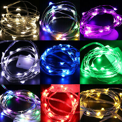 20//30//40//50100 LED Battery Micro Rice Wire Copper Fairy Party Lights String N8G9