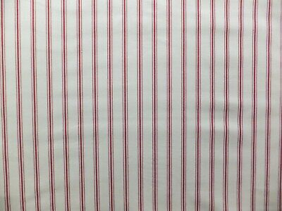 LAURA ASHLEY Farnworth Stripe Steel Fabric 2.7 Meters