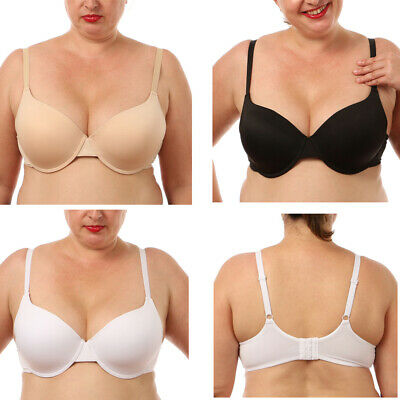 Ladies Full cup Bra Underwired Seamless Super Large Chest Bras Size 34-56 BCDEFG