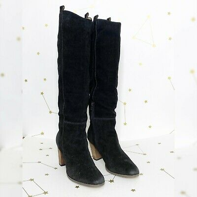 7 Dolce Vita Hawthorne Western Black Tall Suede Boots 6.5 7.5 9 NEW 8.5 8